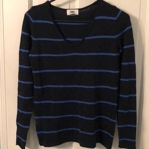 Old Navy Blue Striped Sweater